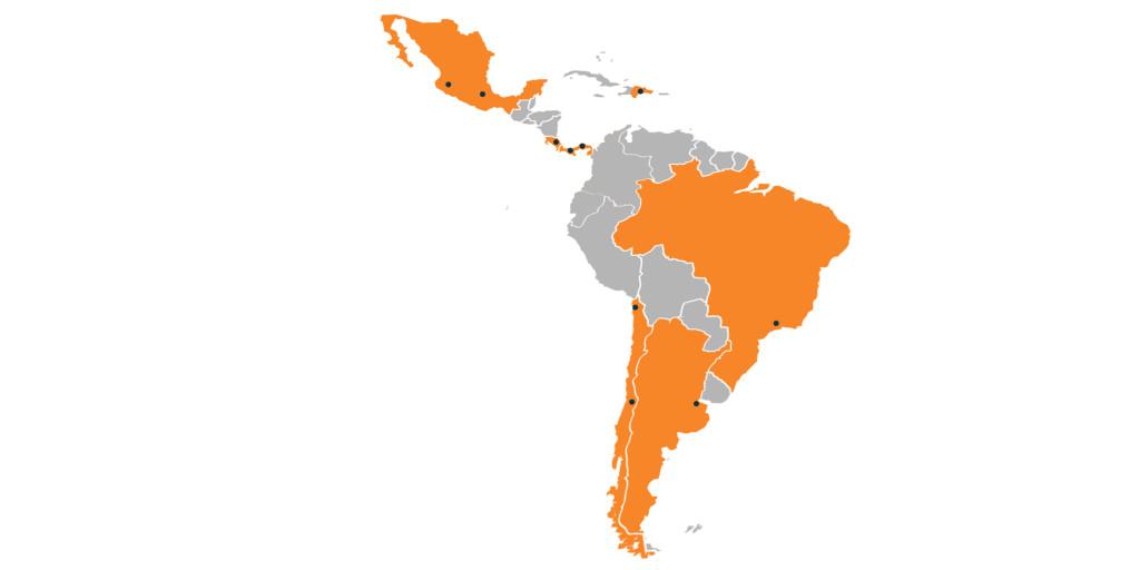 Canvas Uniforce maps - Latin America