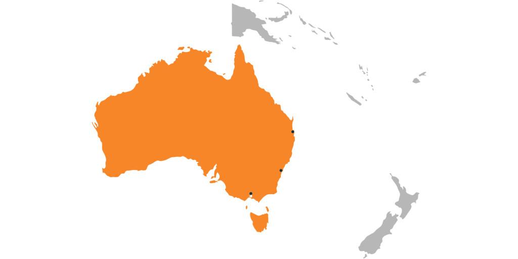 Canvas Uniforce maps - Oceania