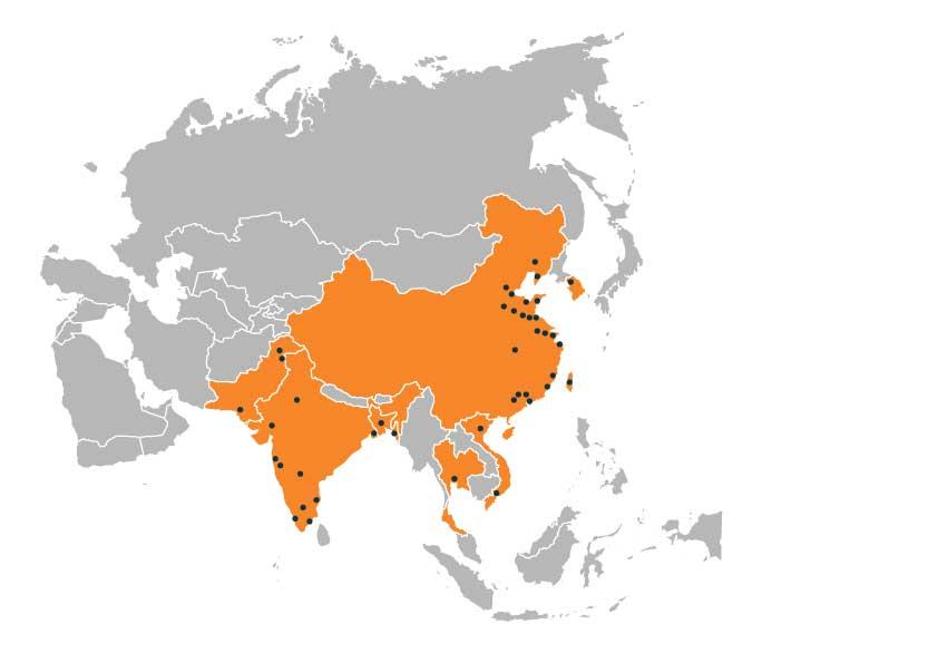 Dotted-Asia-zonder-indonesie-cambodja-myanmar-malediven-philipijnen-verenigde-arabische-emiraten